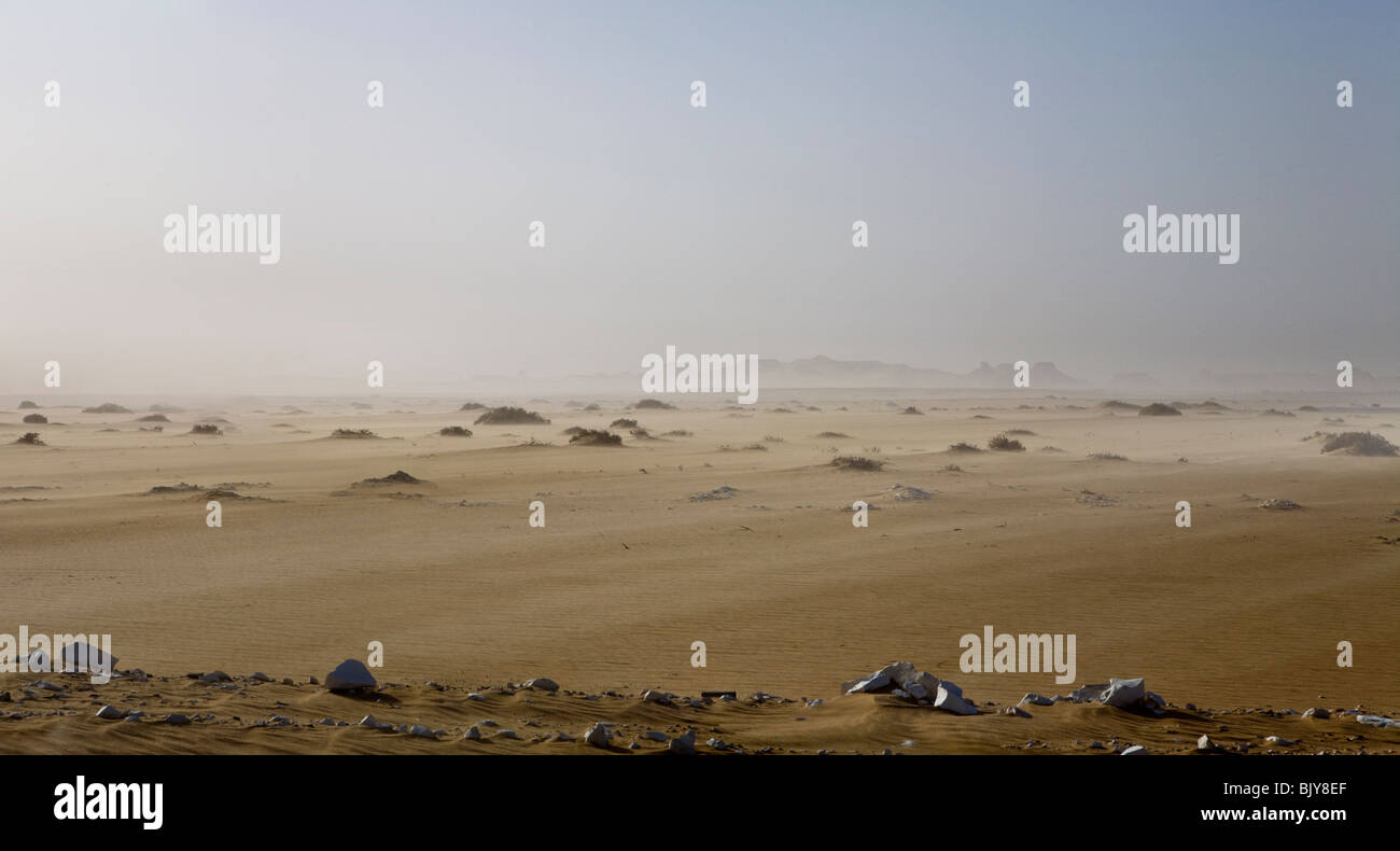 Windy storm in the Gilf Kebir, Western Desert, Egypt - Stock Image