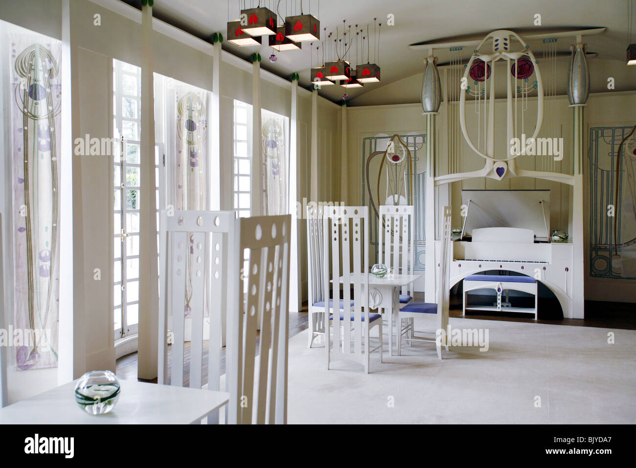 charles rennie mackintosh house for an art lover the music room stock photo 28877359 alamy. Black Bedroom Furniture Sets. Home Design Ideas