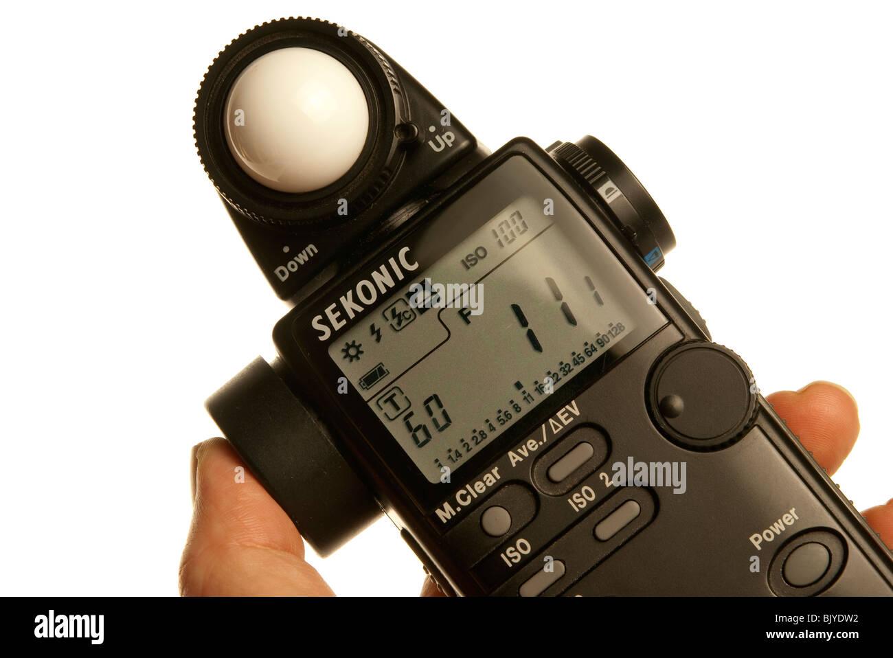 light meter reading - Stock Image