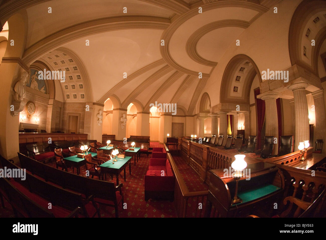 This room in the U.S. Capitol - the Old Supreme Court Chamber - housed the U.S. Supreme Court until 1935. - Stock Image