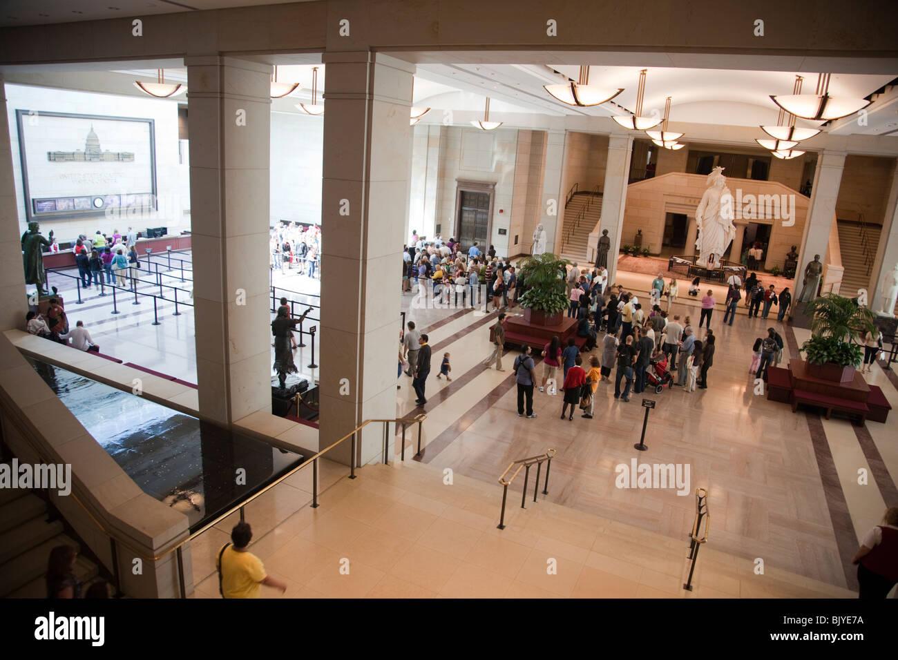 Visitors Wait In Line At The United States Capitol Visitor Center Stock Photo Alamy