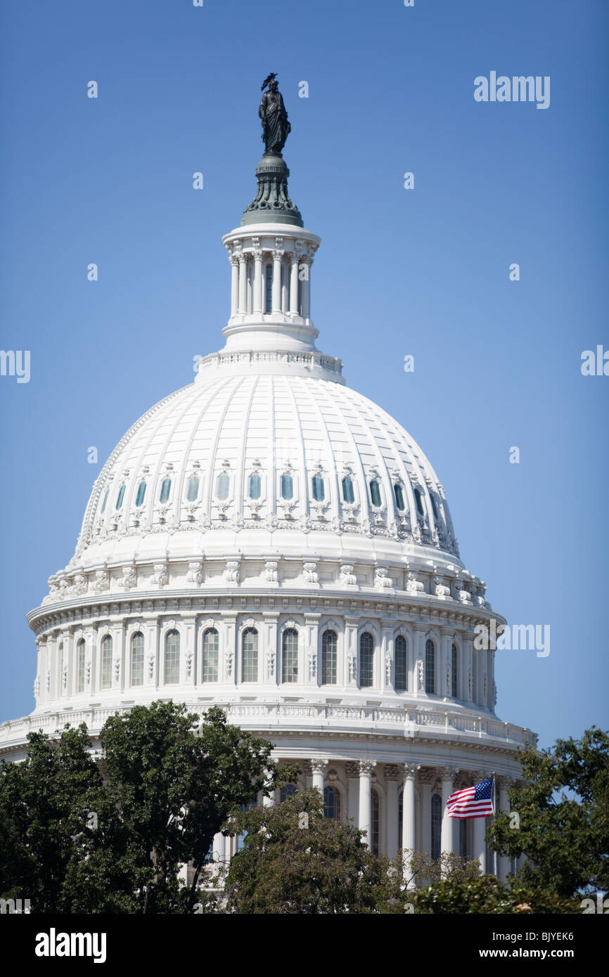 Dome of the U.S. Capitol building in Washington, DC. - Stock Image