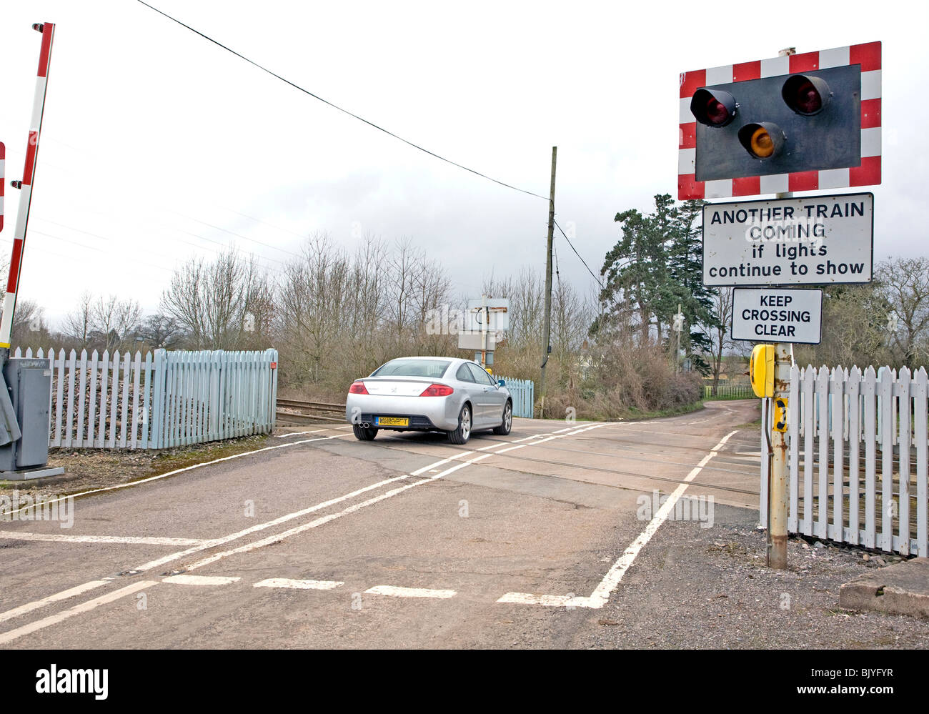 Level Crossing Uk Road Sign Stock Photos Amp Level Crossing