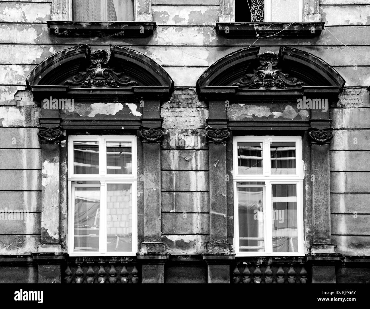 Run-down looking building, Krakow, Poland, Europe - Stock Image