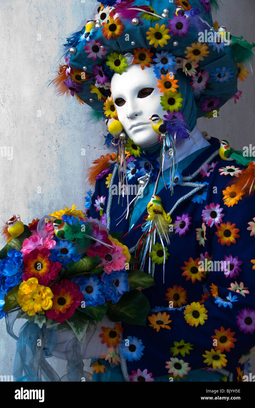 Venice, Italy, costumed Carnival participant - Stock Image