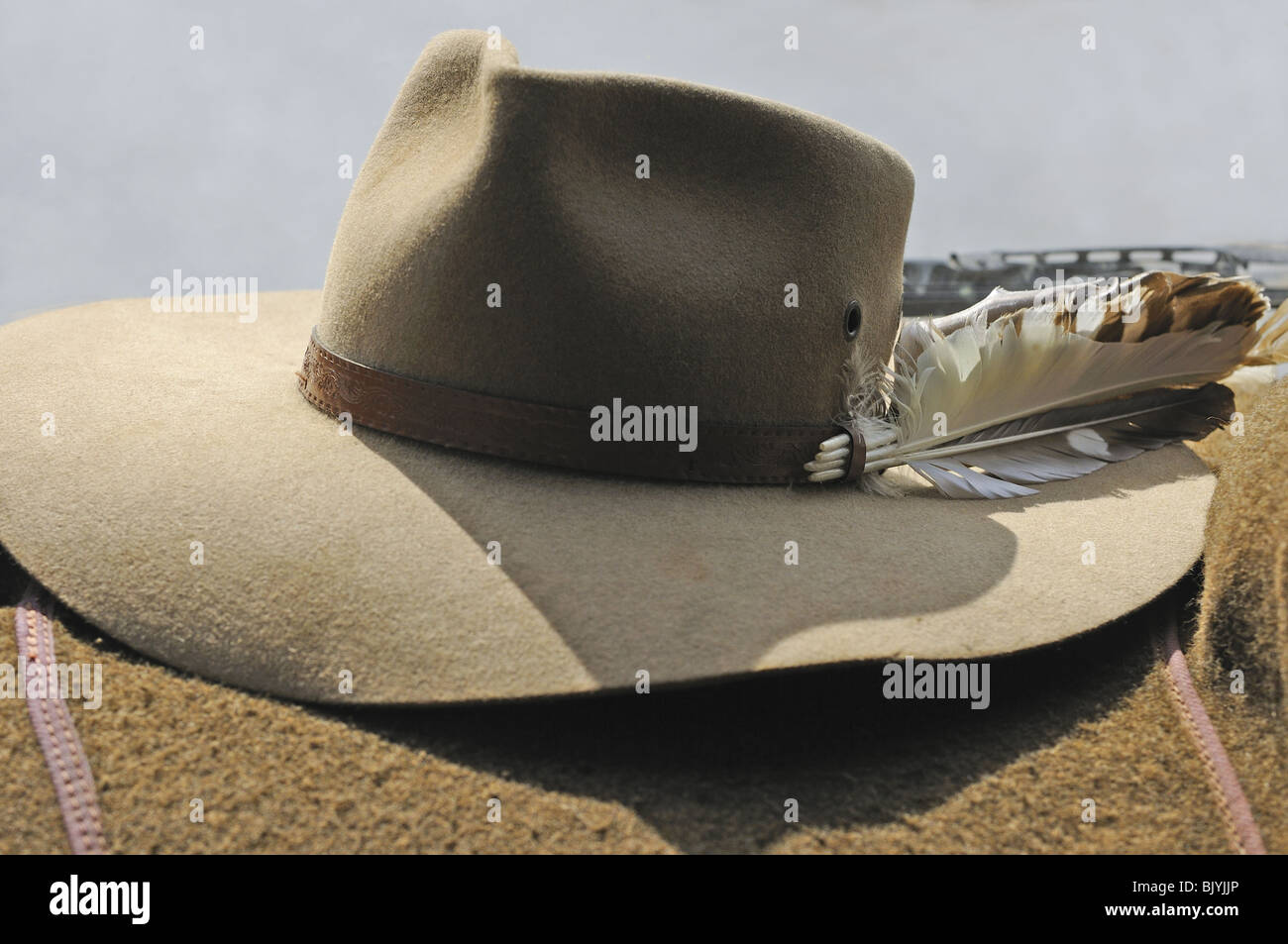 Australian cowboy  s hat  the Akubra   in Kakadu national park Stock ... a63b7b7f40c4