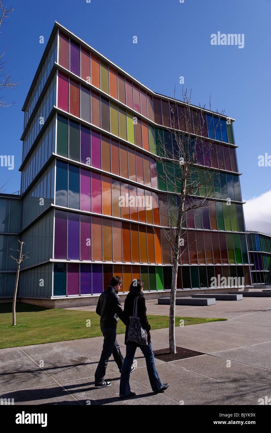 city of León, Castilla y león contemporary art museum MUSAC - Stock Image