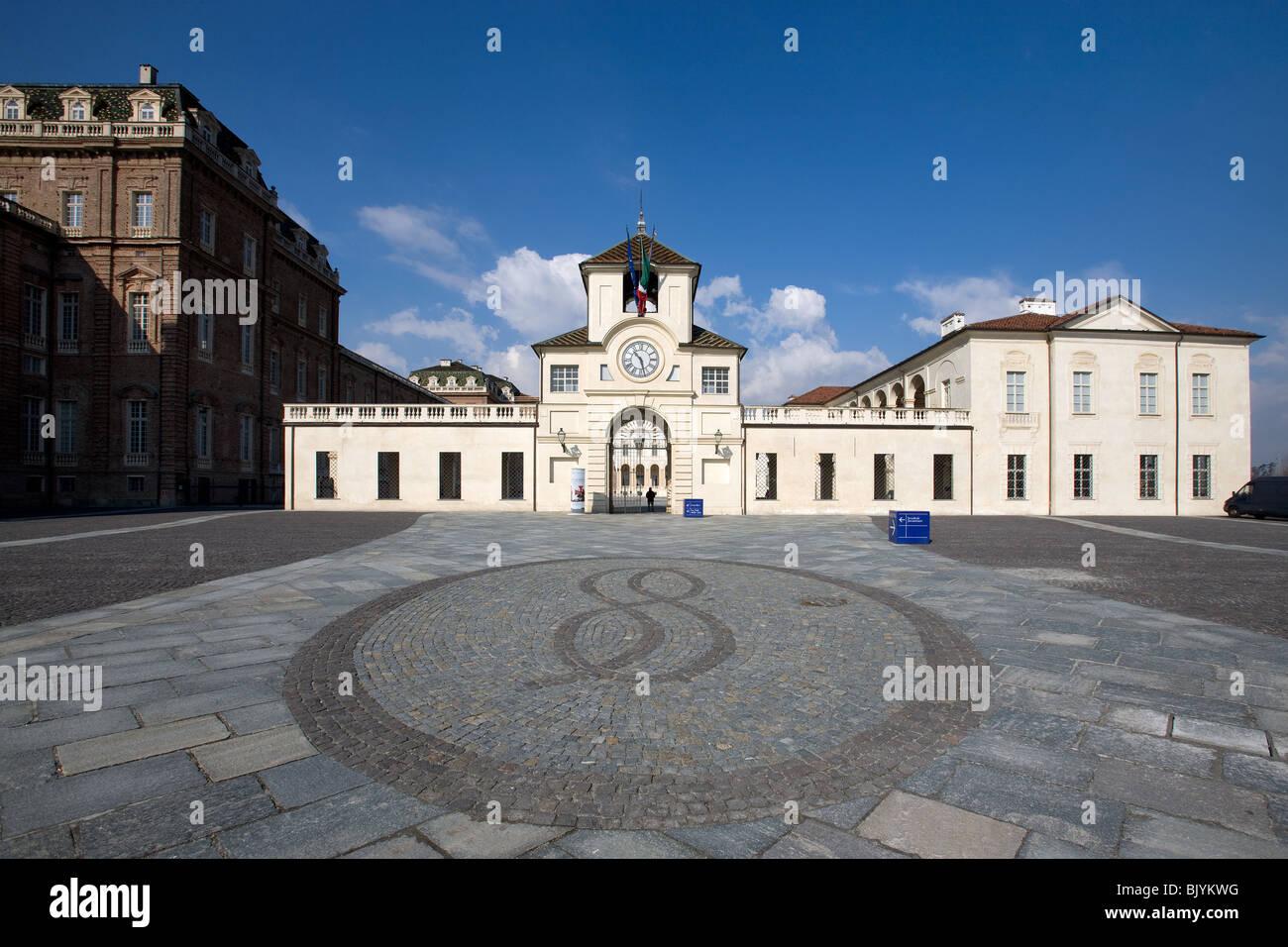 Italy, Turin, Torino, Reggia Venaria Reale, entrance - Stock Image