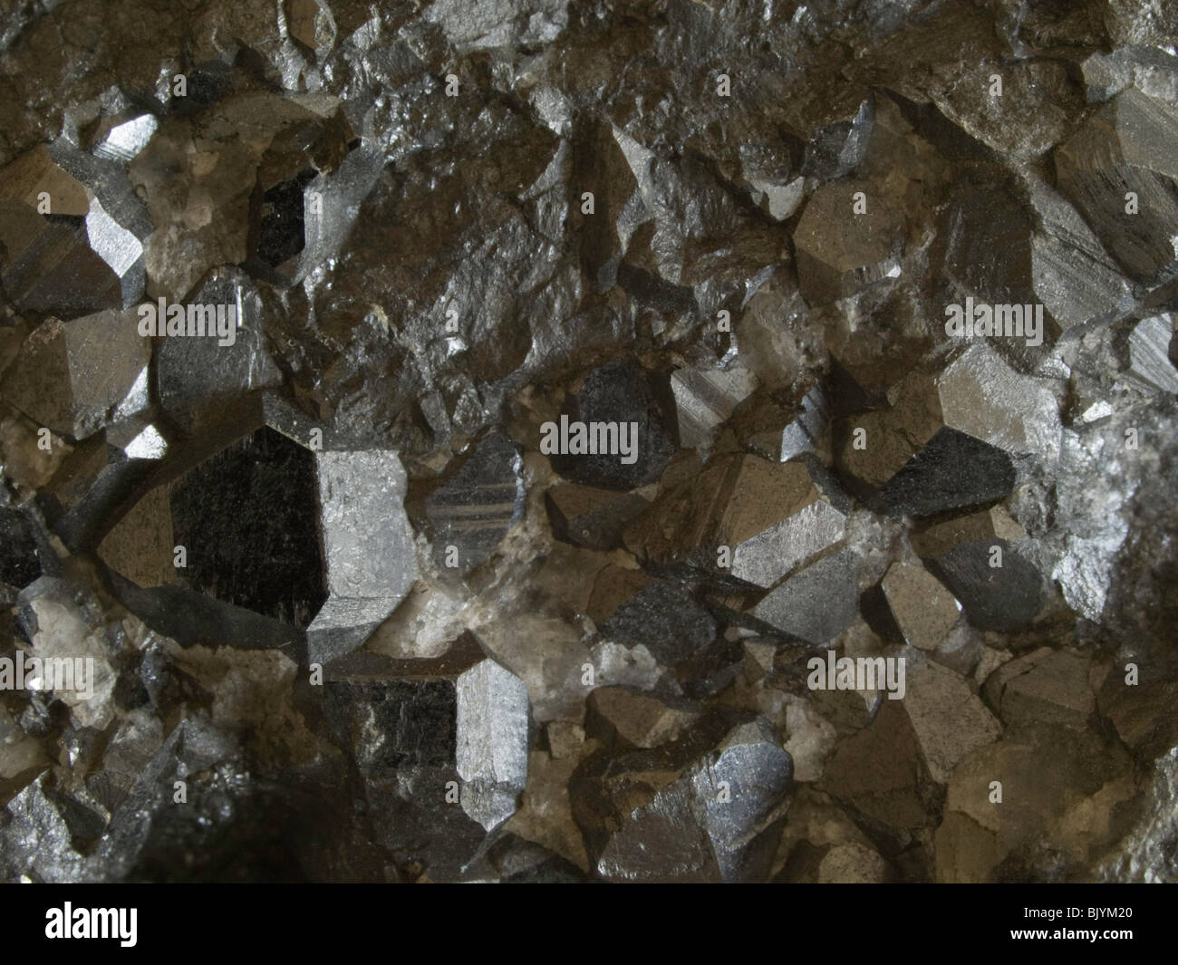 Hausmannite crystals - Stock Image
