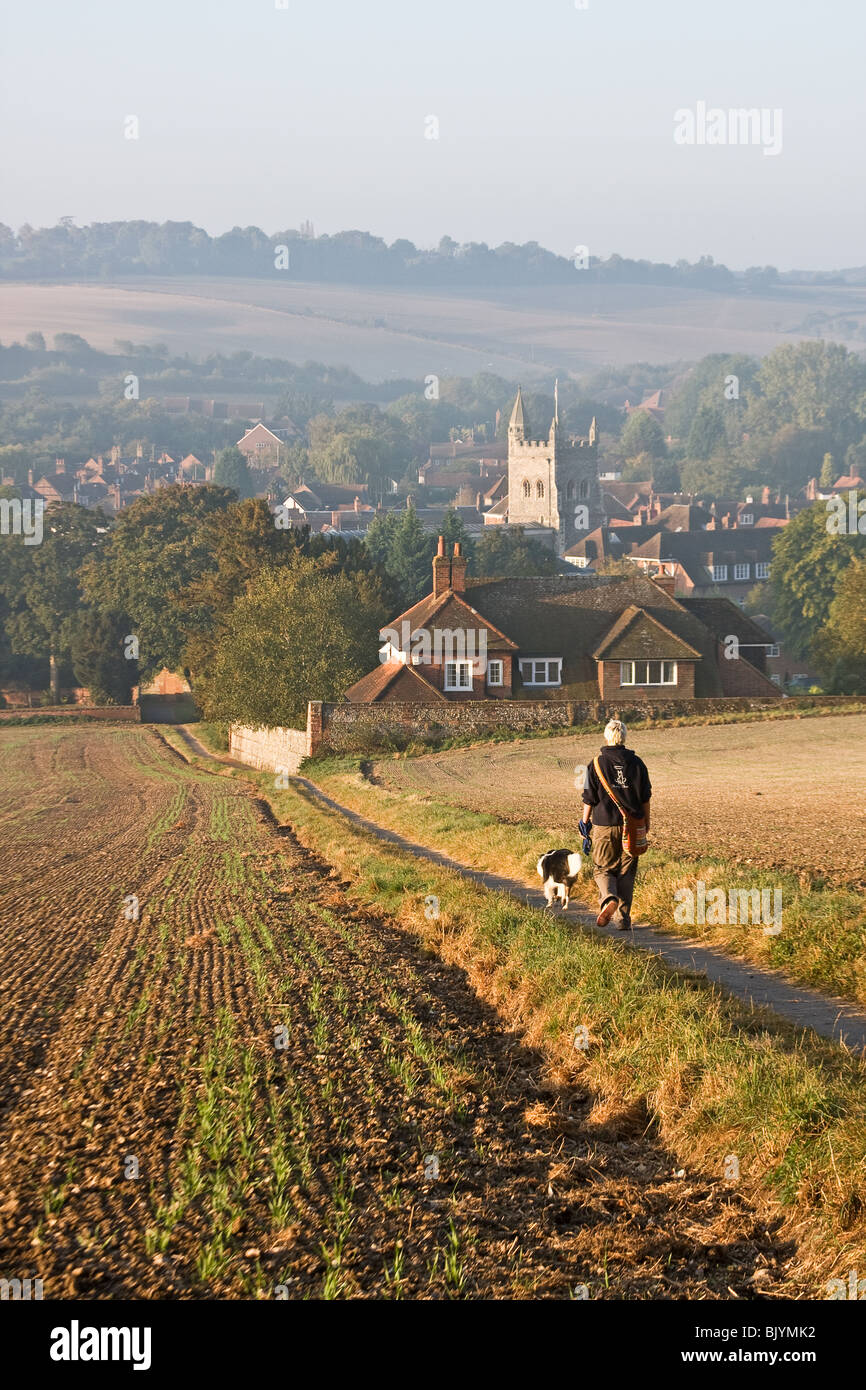 Old Amersham, viewed from Parsonage Wood - Stock Image