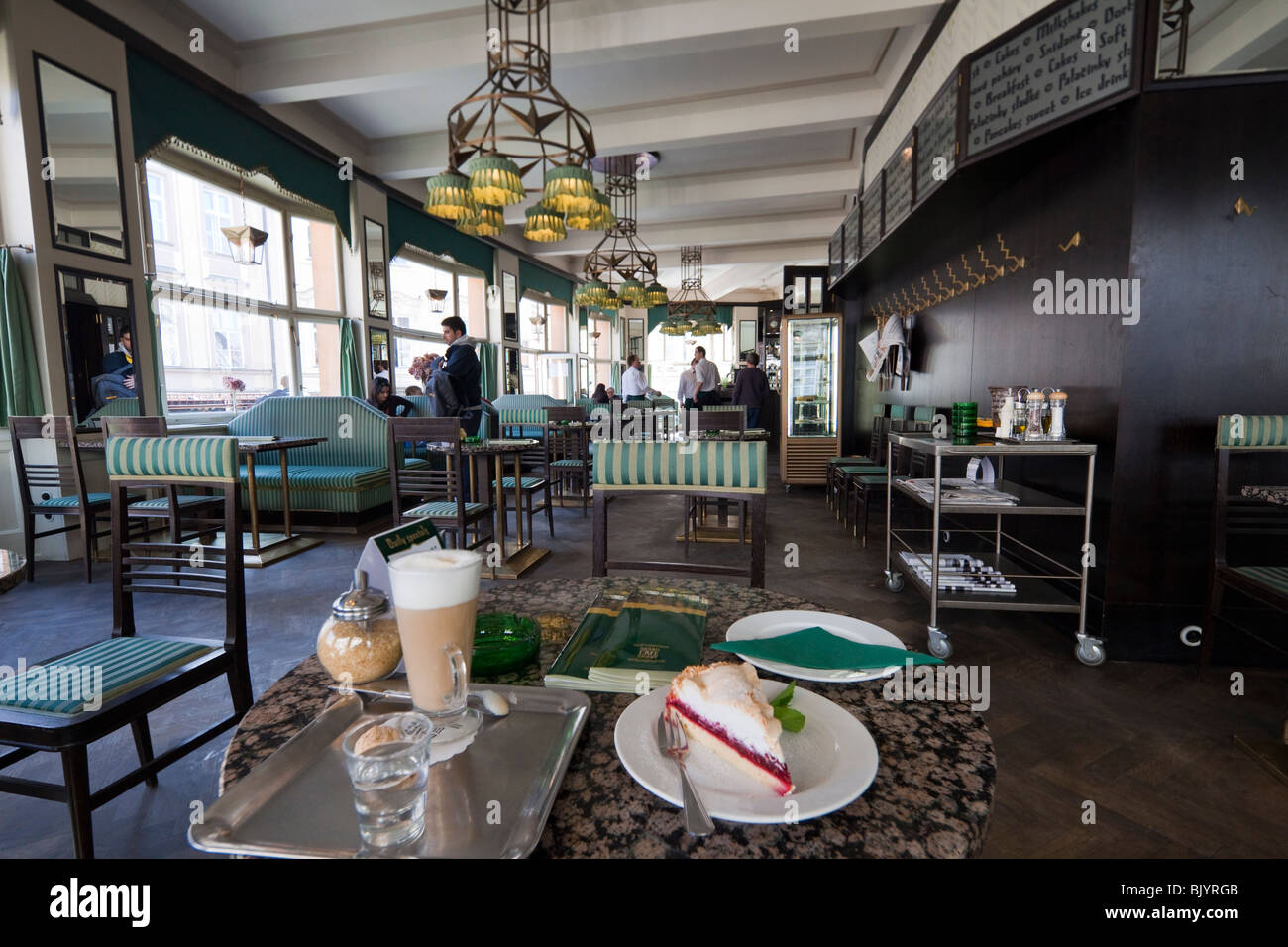 cafe, House of the Black Madonna, Old Town, Prague, Czech Republic - Stock Image