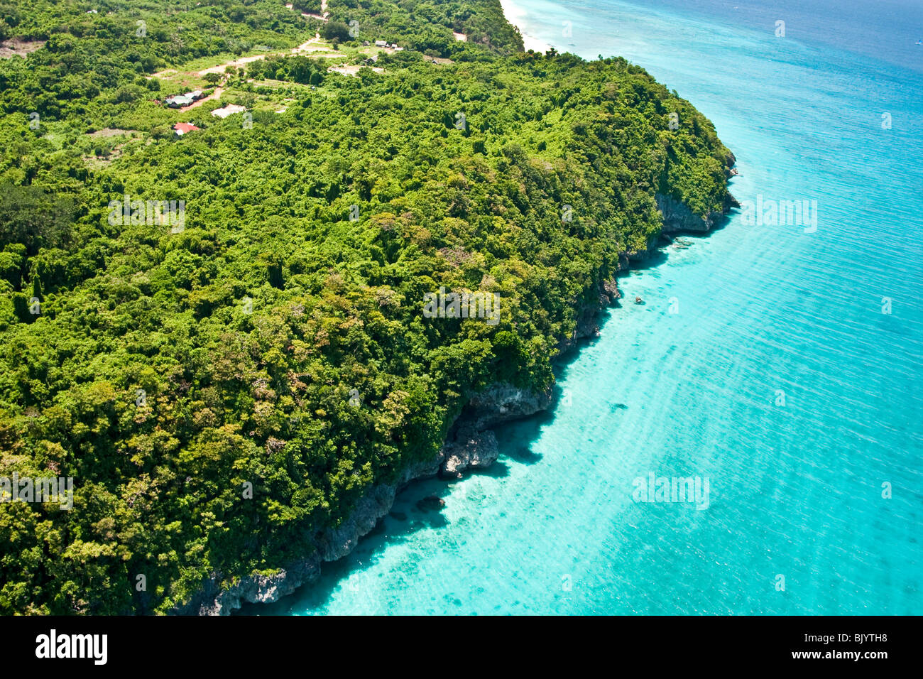 Aerial view of Boracay Islands in Central Philippines - Stock Image