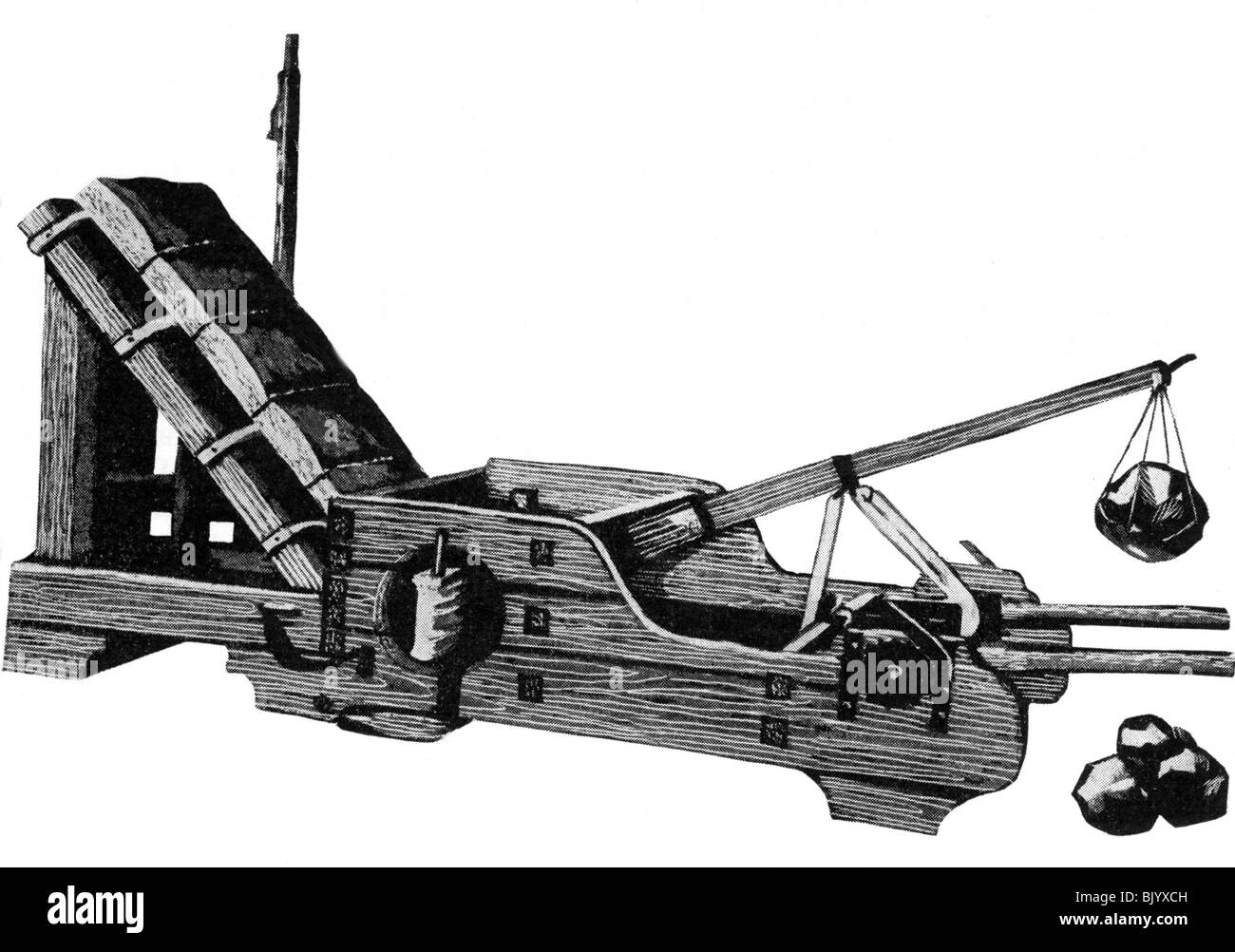 All About Trebuchet Catapult And Ancient Technology Plans Www Medieval Diagram Labeled Labelled