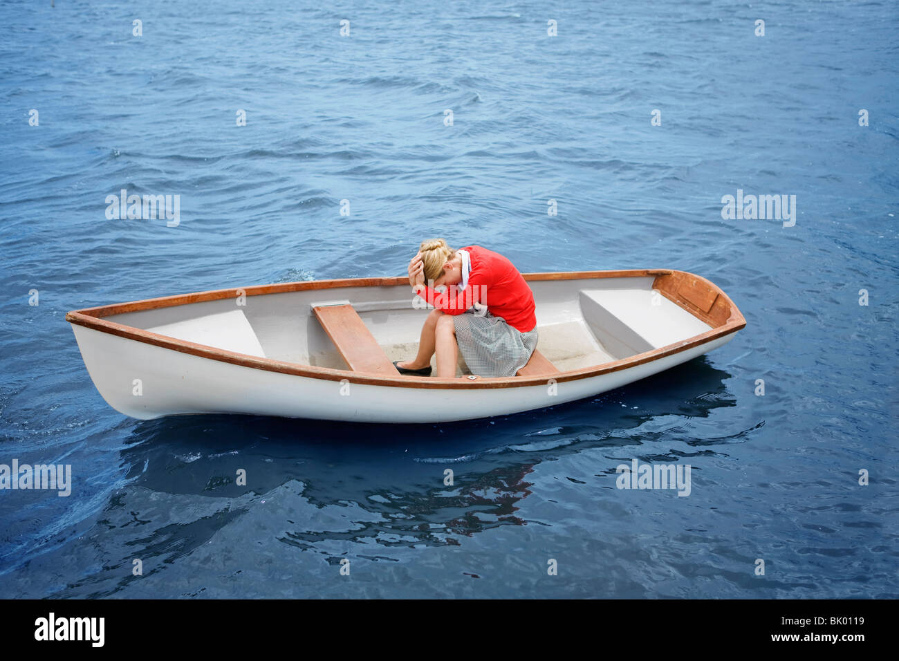 Desperate woman - Stock Image