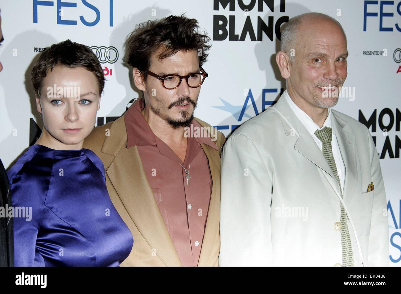 SAMANTHA MORTON JOHNNY DEPP & JOHN MALKOVICH THE LIBERTINE PREMIER AFI FEST 2005 ARCLIGHT HOLLYWOOD LOS ANGELES - Stock Image