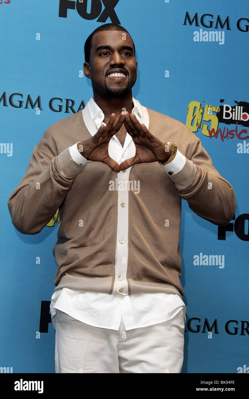 KANYE WEST BILLBOARD MUSIC AWARDS 05 MGM GRAND ARENA LAS VEGAS USA 06 December 2005 Stock Photo