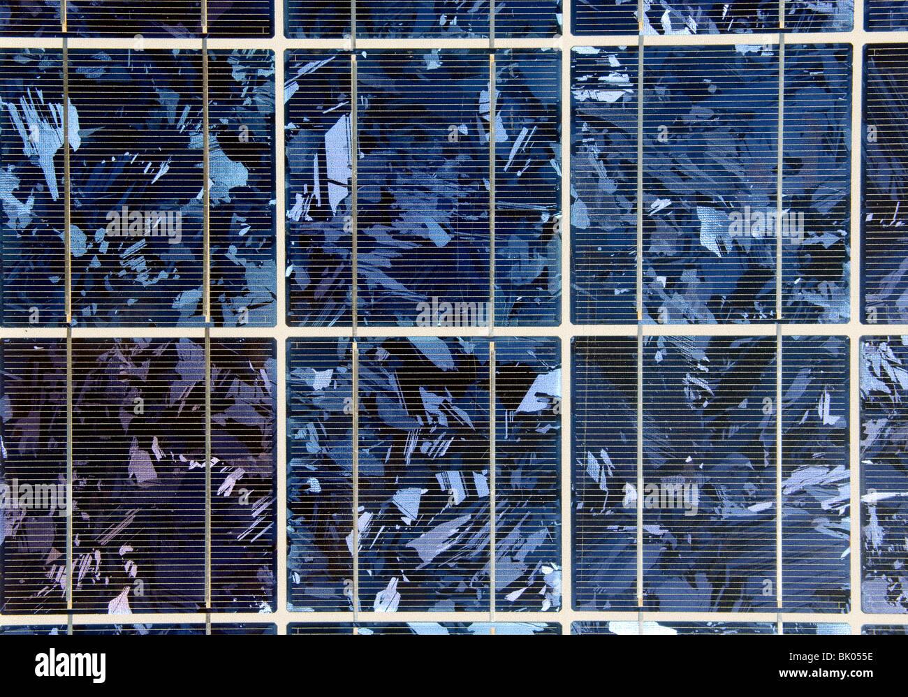 Close-Up of Solar module - Stock Image