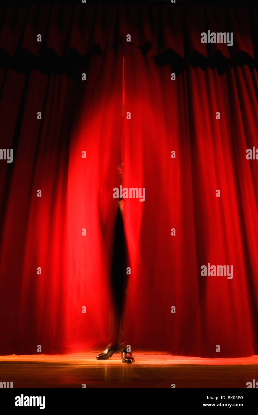 Lights on stage in theater - Stock Image
