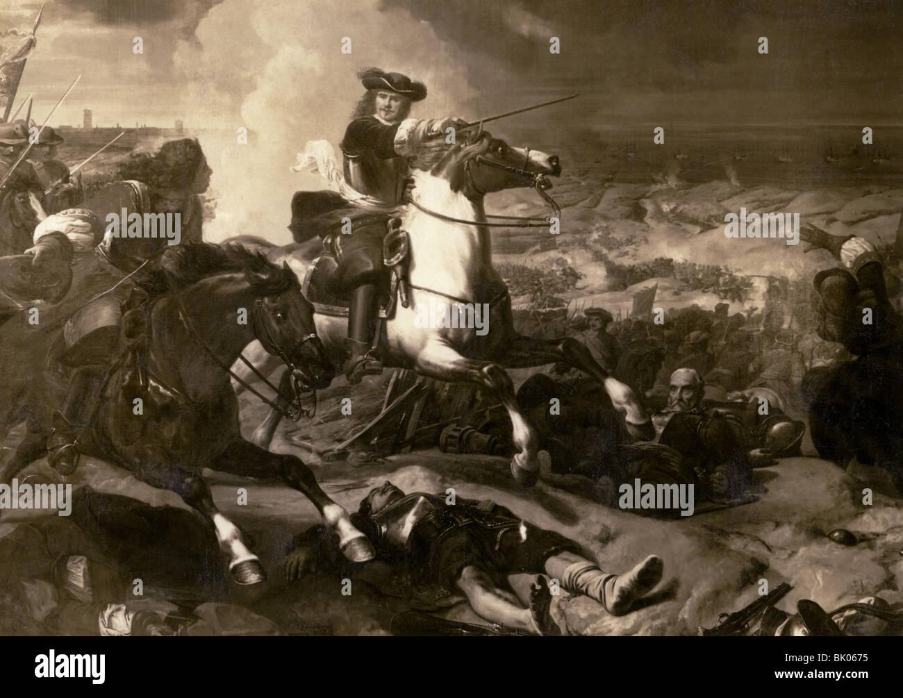 Turenne, Henri de Tour d' Auvergne Vicomte de, 11.9.1611 - 27.7.1679, French general, equestrian half length, - Stock Image