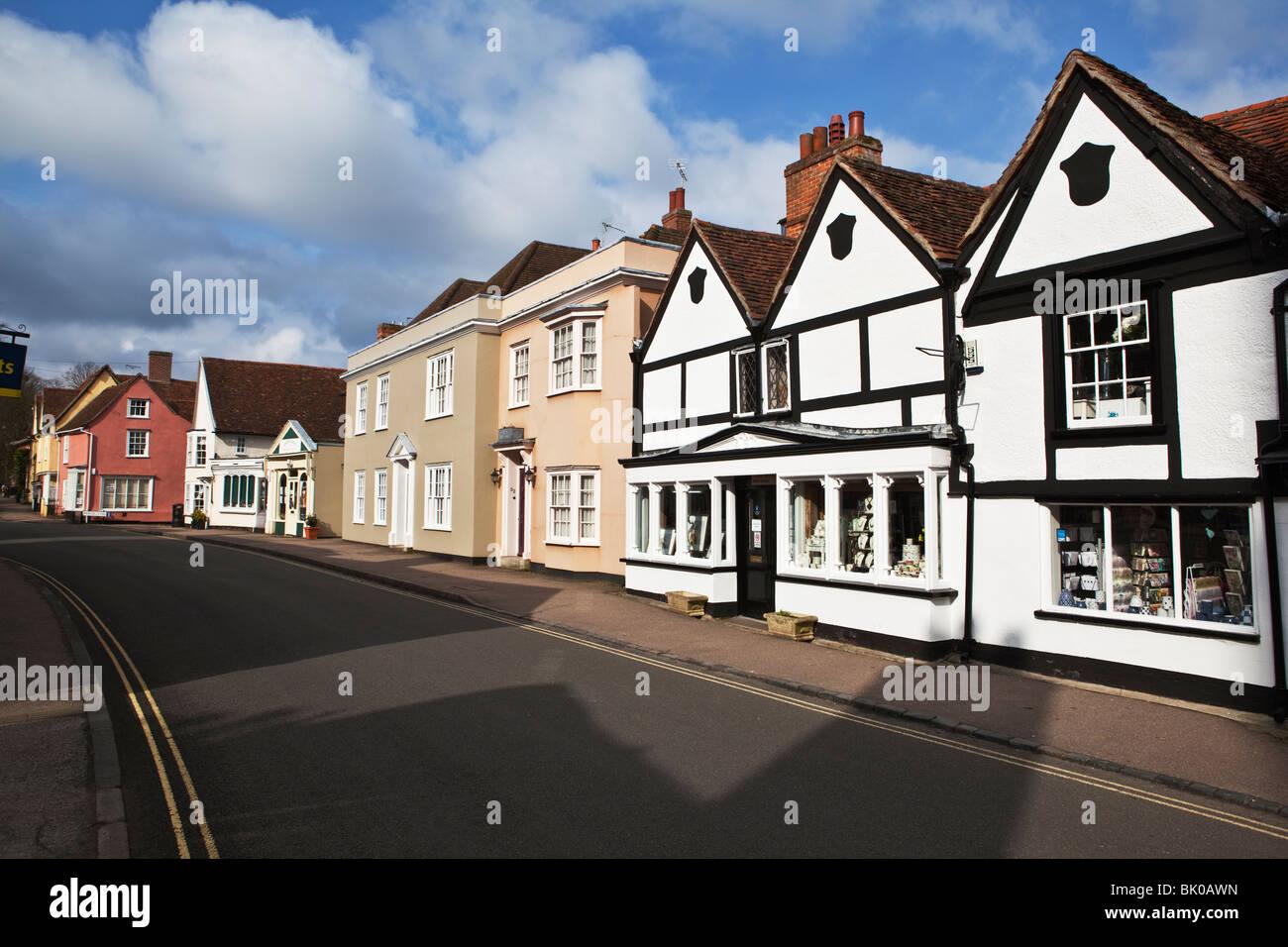 High Street Dedham village Essex England - Stock Image