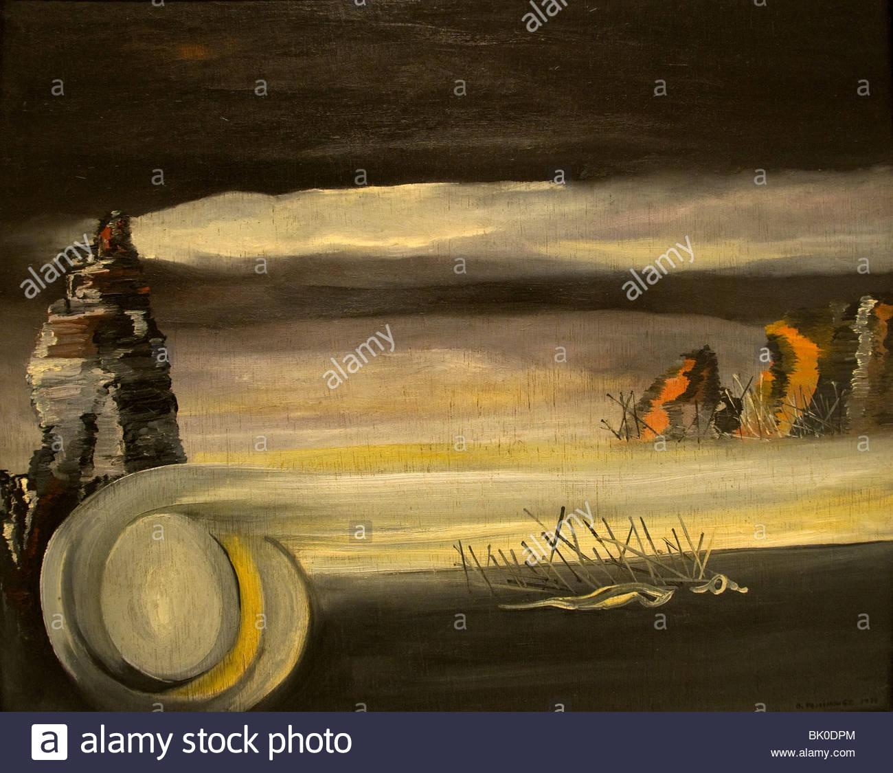Oscar Dominguez Cosmic Landscape1938 Spain Spanish Painter - Stock Image