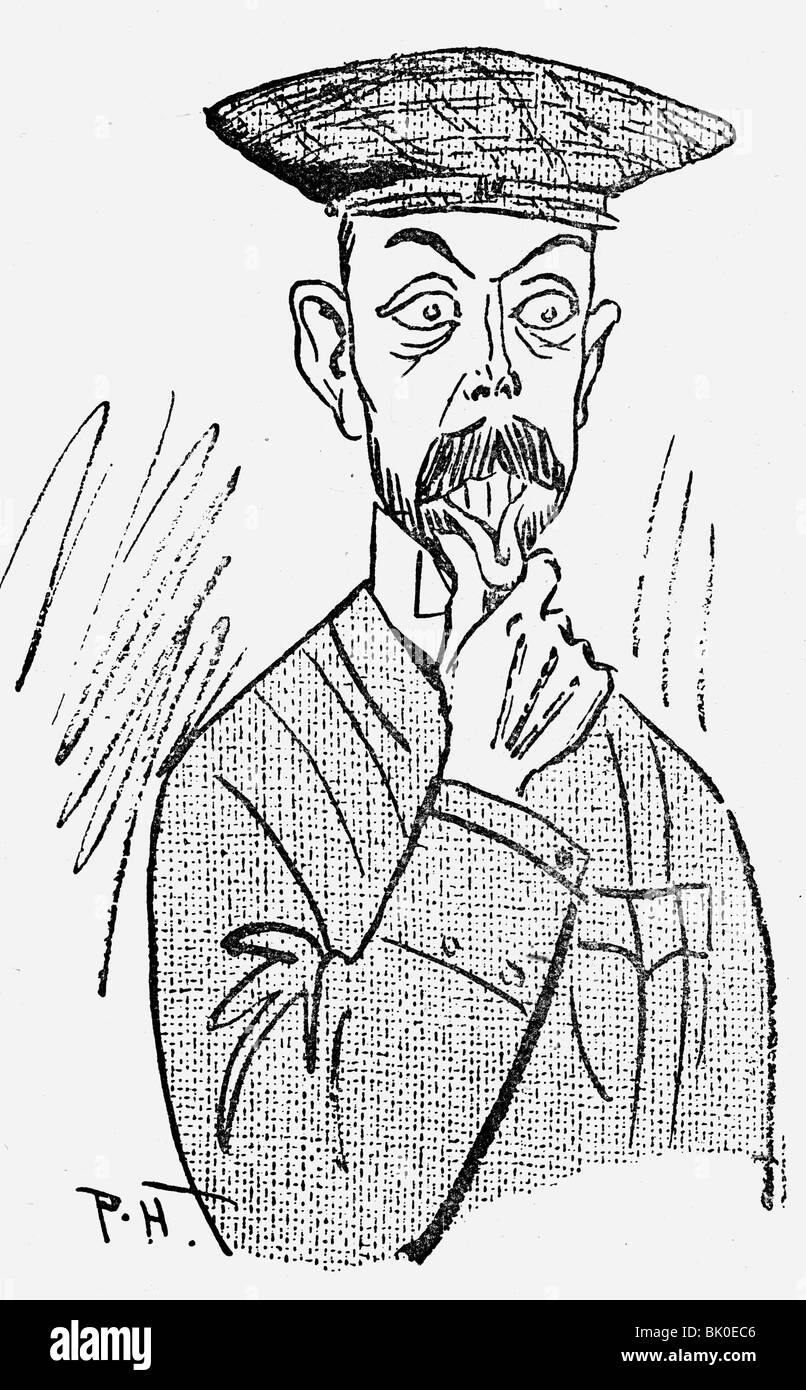 George V, 3.6.1865 - 20.1.1936, King of Great Britain 6.5.1910 - 20.1.1936, caricature, 'I must do everthing - Stock Image