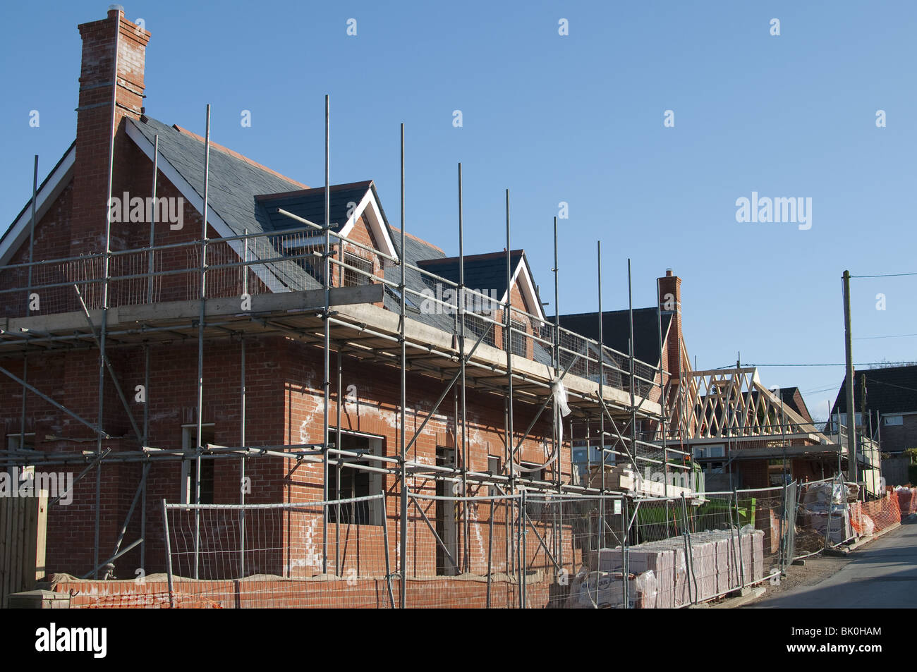 New build property in a Hampshire village, England, UK - Stock Image