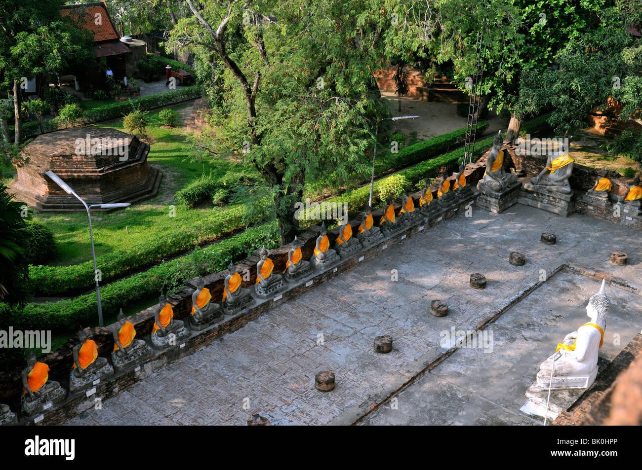 Le Wat Yai Chai Mongkhon Thailande - Stock Image