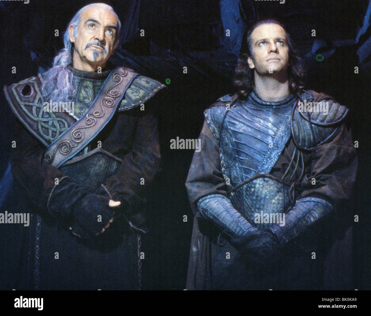 HIGHLANDER II - THE QUICKENING- 1990 Entertaiment film with Sean Connery at left and Christopher Lambert - Stock Image