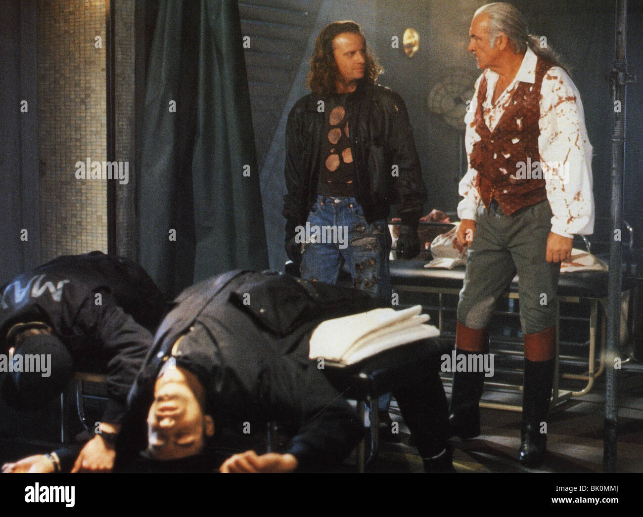 HIGHLANDER II: THE QUICKENING - 1990 Entertianmnet film with Sean Connery at right and Christopher Lambert - Stock Image