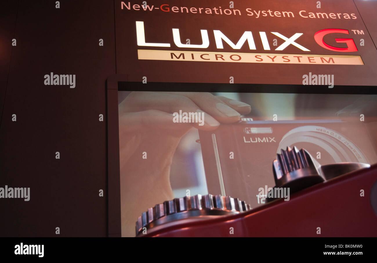 Lumix G Camera at Focus on Imaging 2010 - Stock Image