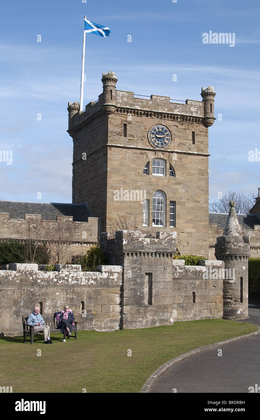 Culzean Castle near Maybole, Carrick on the Ayrshire coast of Scotland - Stock Image