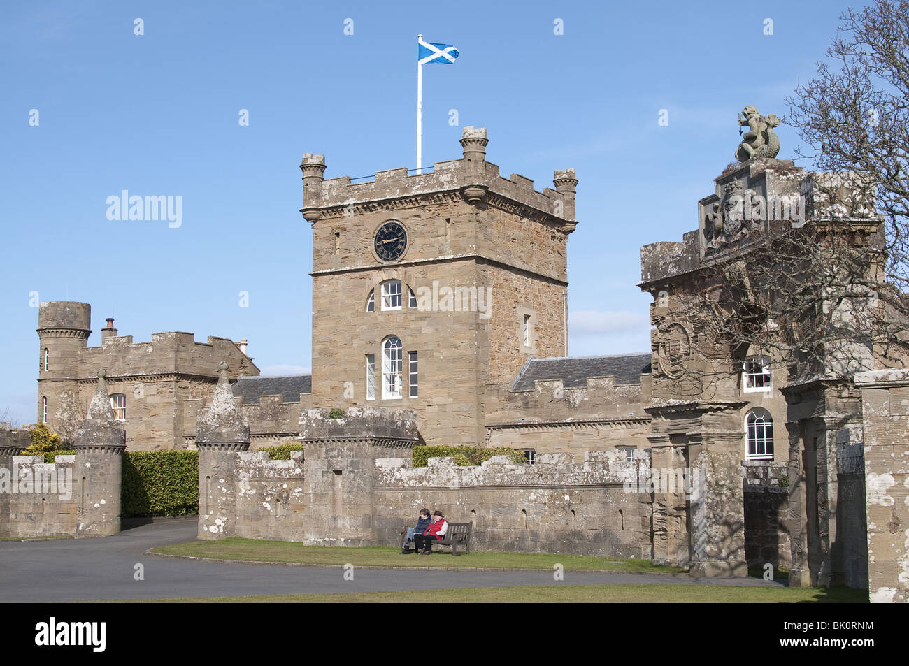 Culzean Castle near Maybole, Carrick on the Ayrshire coast of Scotland - Stock Image