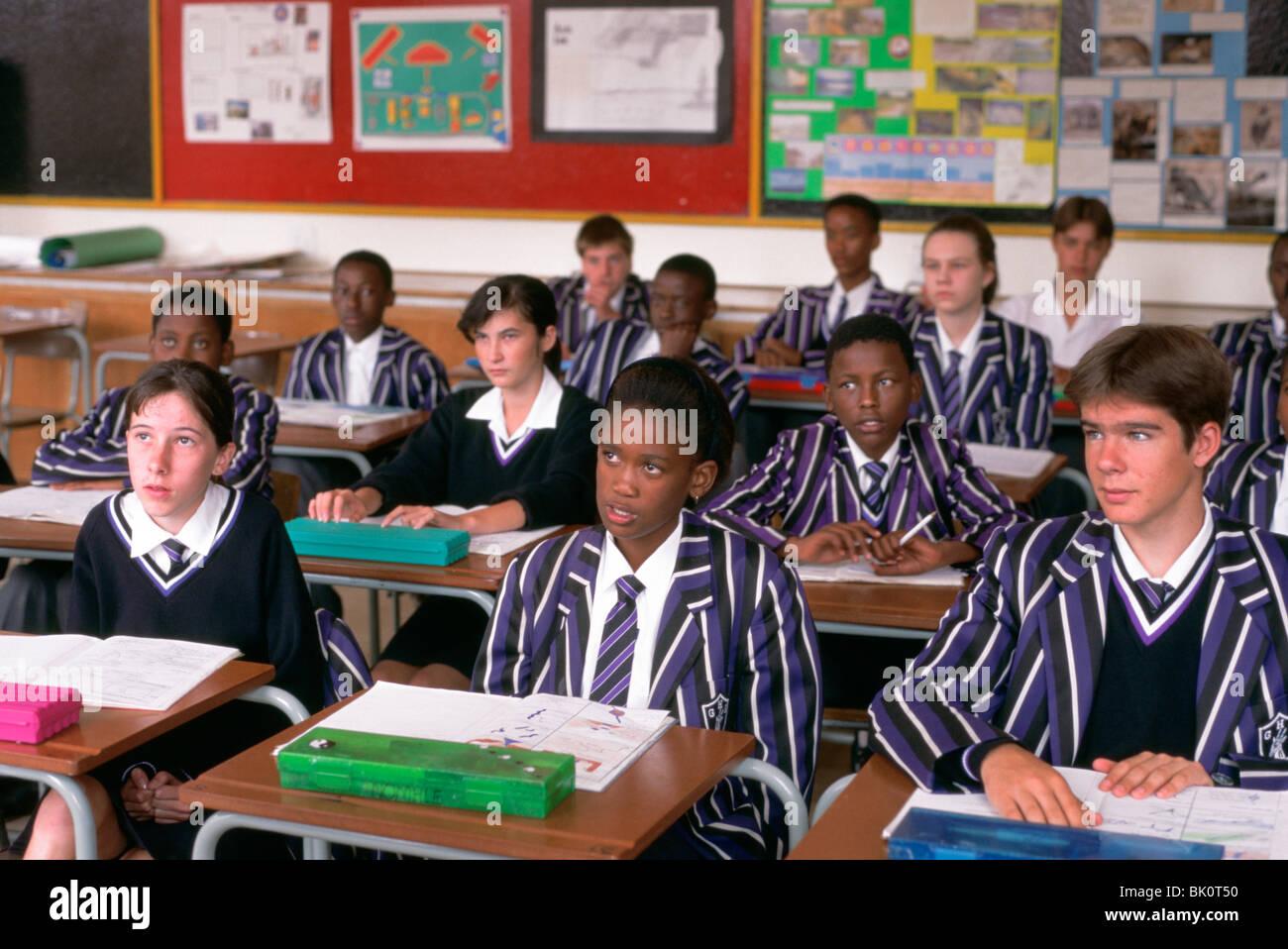 Class Of Mixed Race And Sex Schoolchildren, South Africa -8311