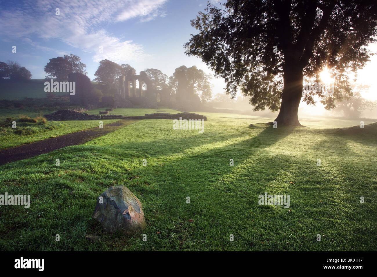 Inch Abbey, Downpatrick, Northern Ireland. - Stock Image