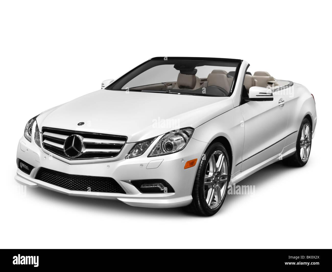 White 2011 Mercedes-Benz E-Class Cabriolet Luxury Car