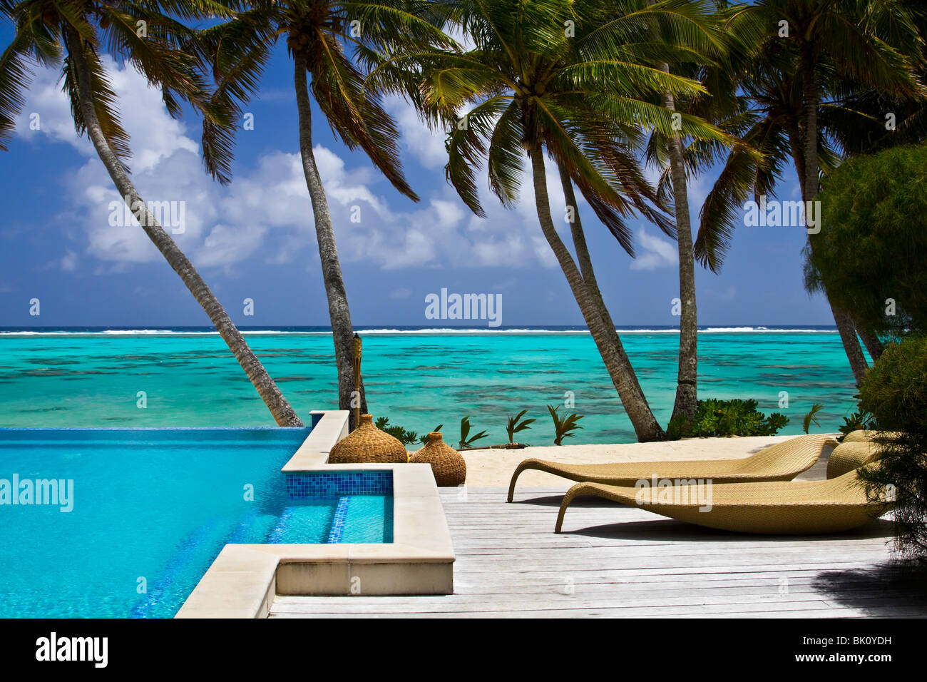 Resort on Rarotonga, Cook Islands - Stock Image