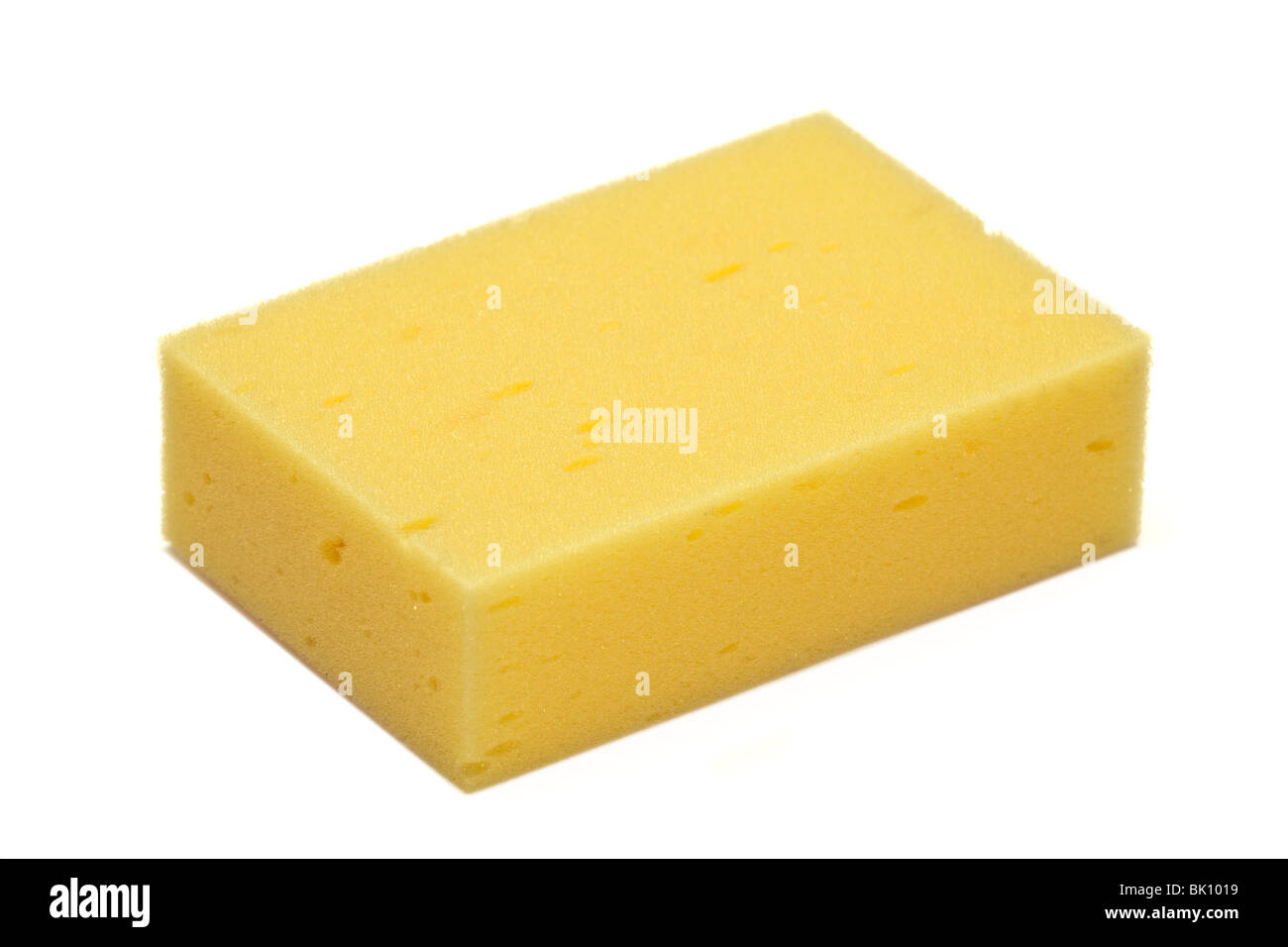 oblong yellow sponge - Stock Image
