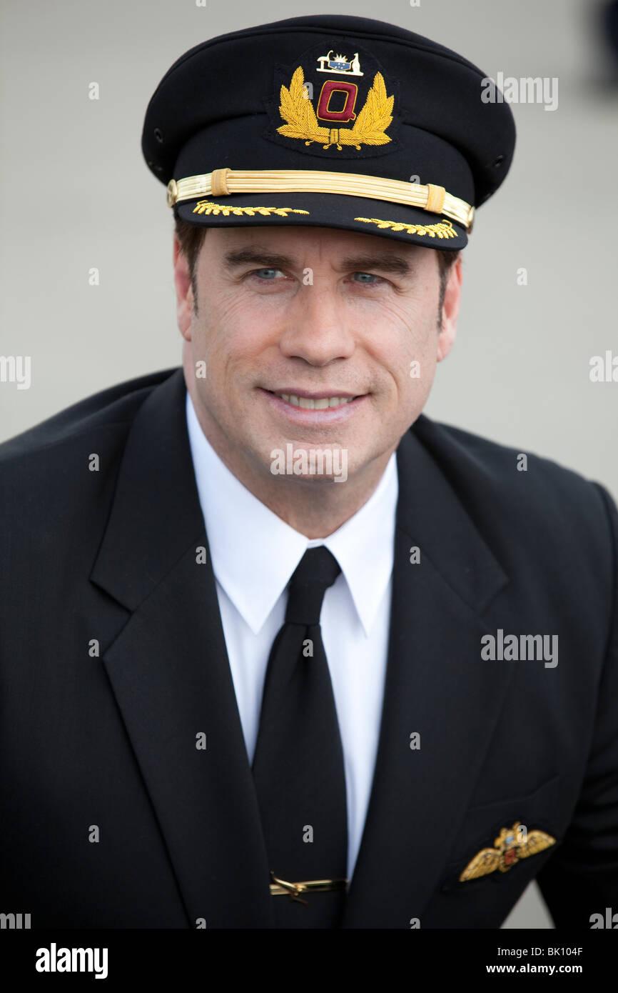 John Travolta in his Qantas Pilots Uniform Stock Photo