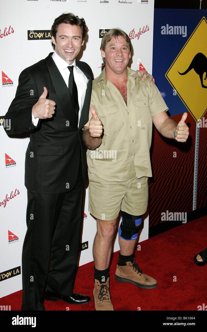 HUGH JACKMAN & STEVE IRWIN G'DAY LA PENFOLDS ICON GALA HOLLYWOOD PALADIUM LOS ANGELES USA 14 January 2006 - Stock Image