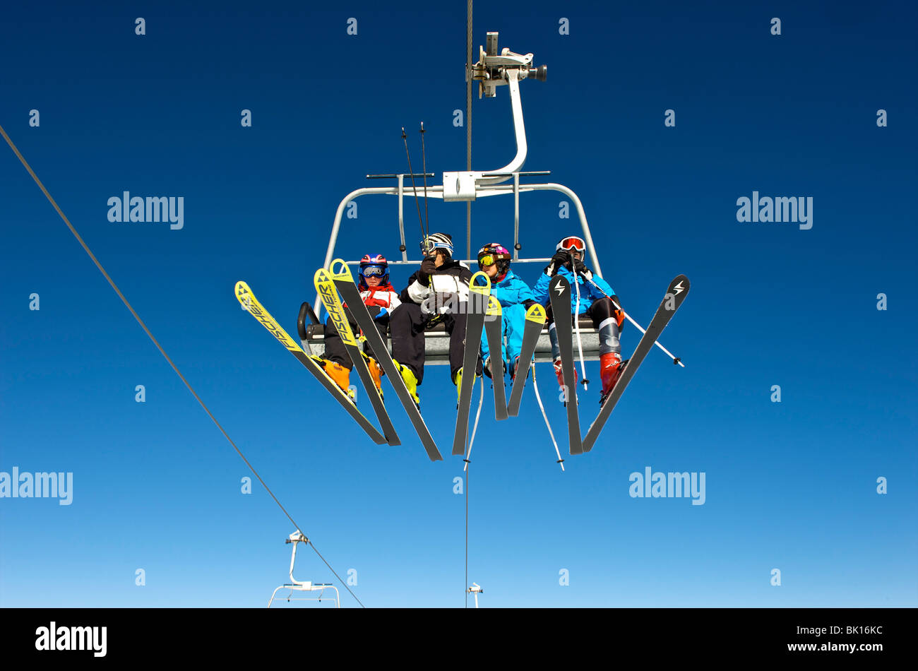 Sierra Nevada chairlift - Stock Image
