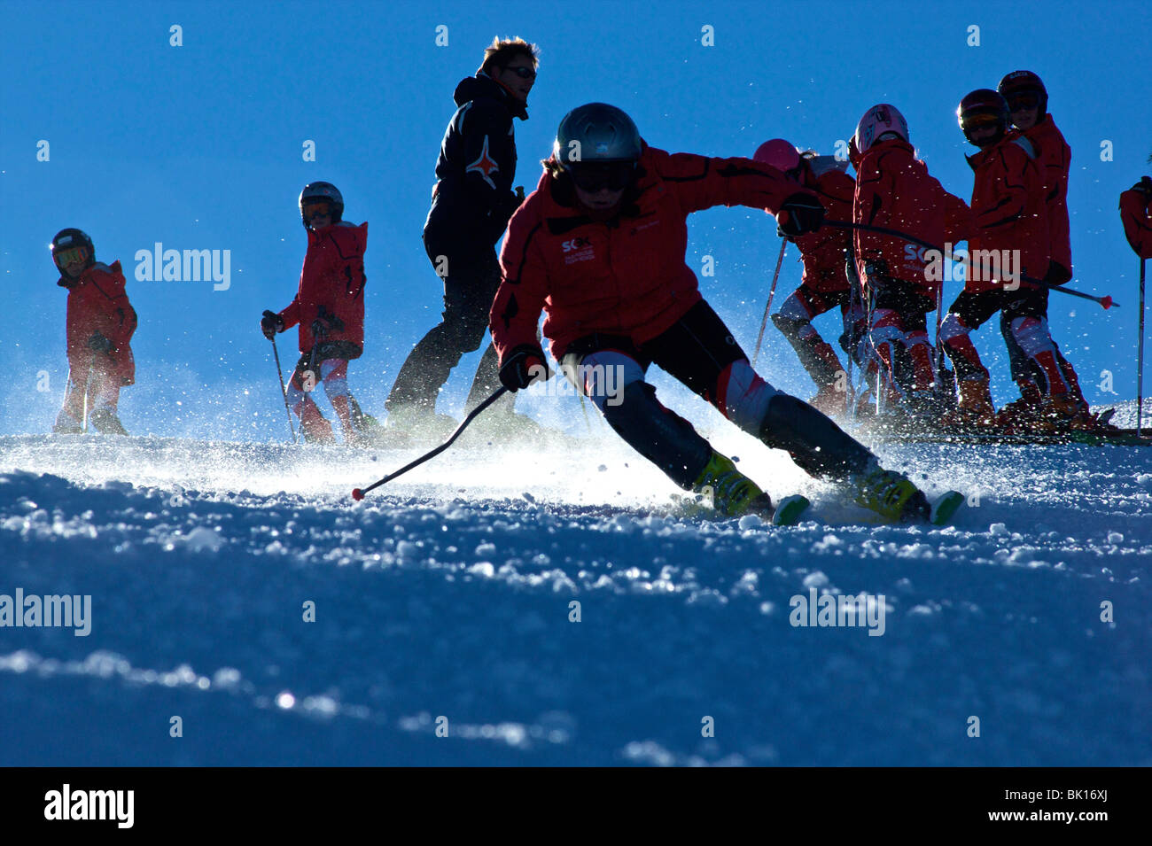 Sierra Nevada ski match - Stock Image