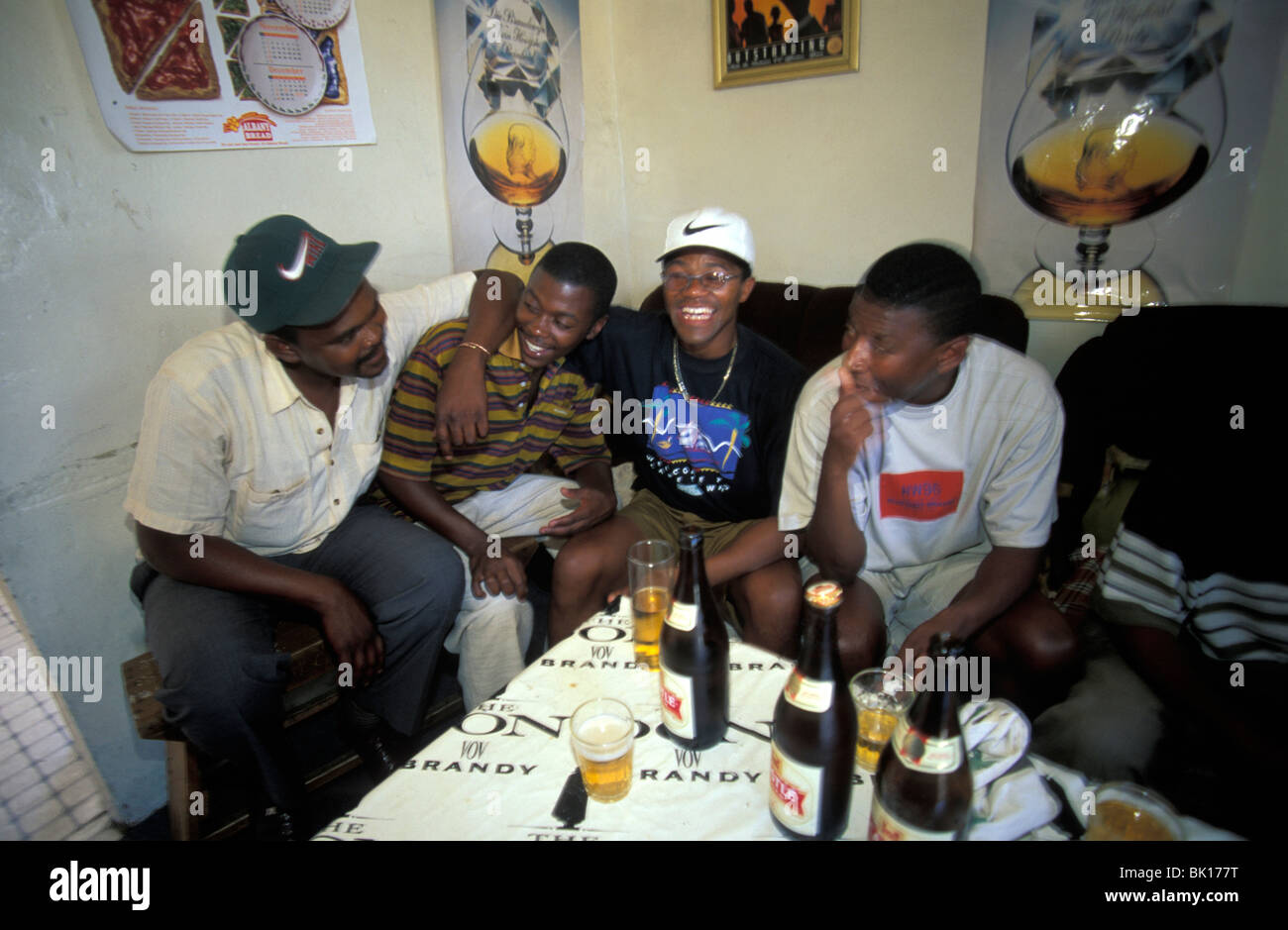 South Africa, township, illegal drinking in a shebeen - Stock Image