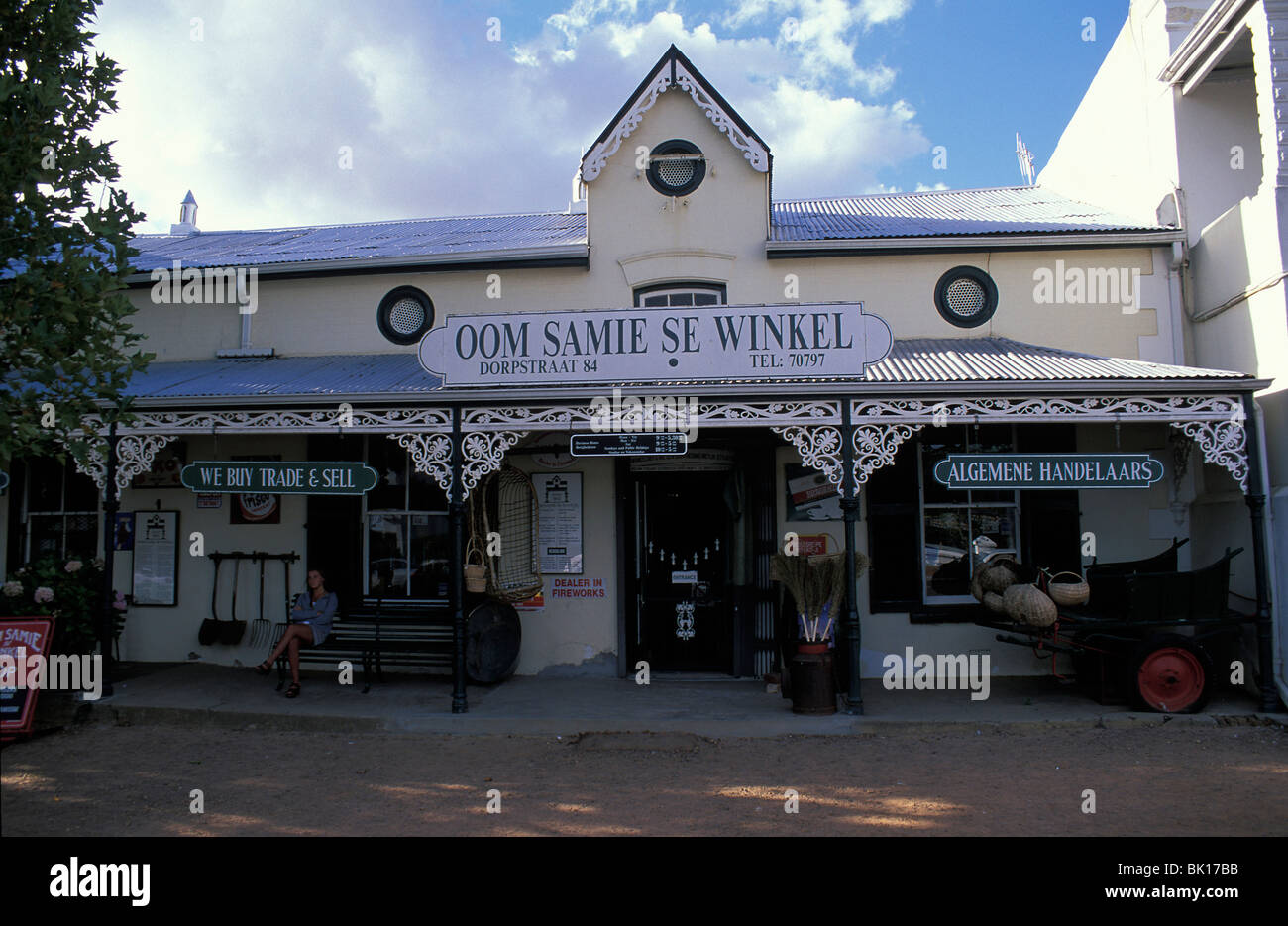 South Africa, Stellenbosch, Oom Samie se winkel Stock Photo