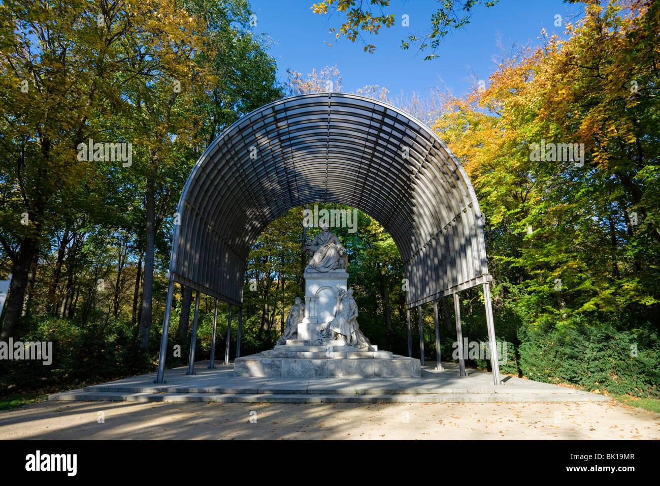 Memorial to Richard Wagner, Grosser Tiergarten, Berlin, Germany - Stock Image