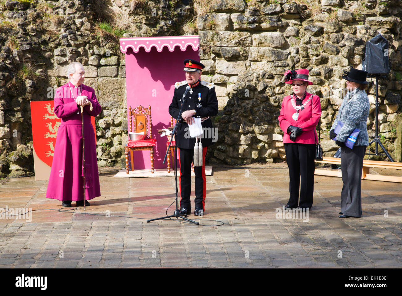 The Lord Lieutenant opening the 800th Maundy Celebrations Knares - Stock Image