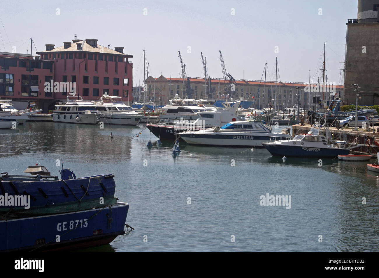 Italy, Genoa, the city harbour - Stock Image