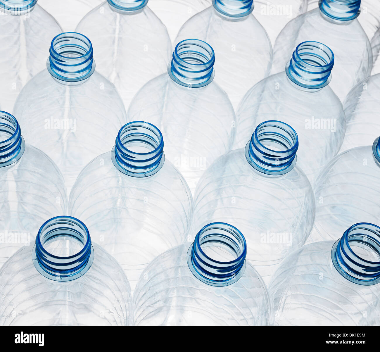 Plastic Bottles Ready for Recycling - Stock Image