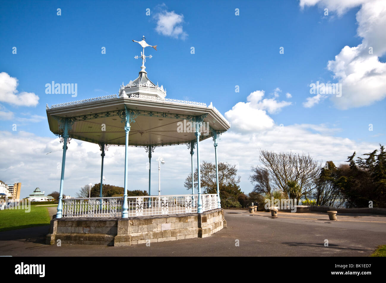 Folkestone Bandstand on the Leas - Stock Image
