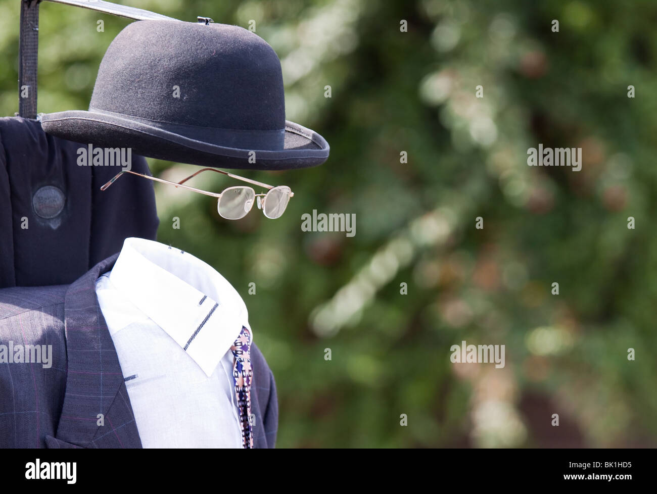 Street Entertainer, The Moving Invisible Man - Stock Image